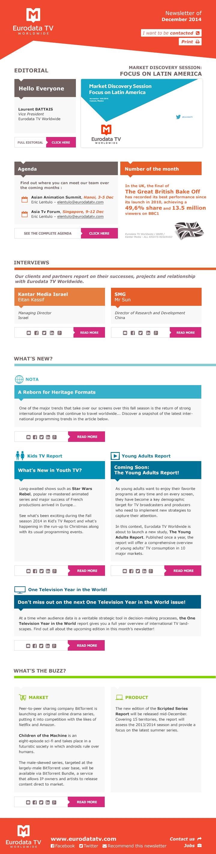 Exemples de newsletters - Agence Web Mailmarketing